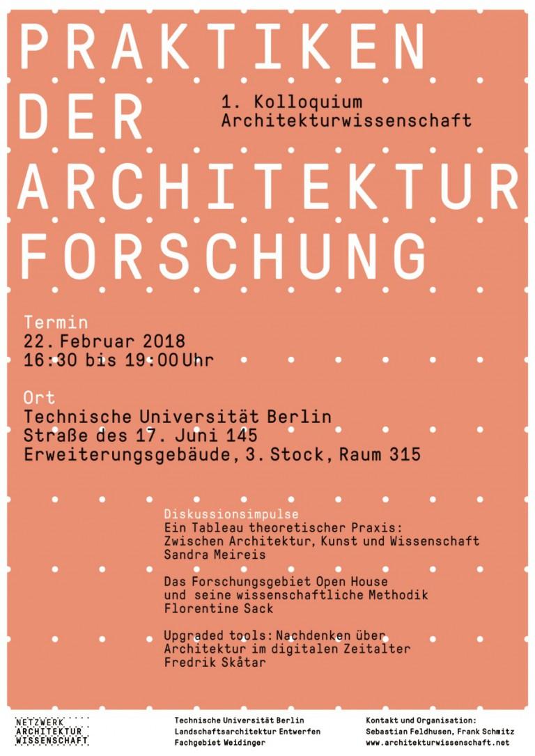 Netzwerk Architekturwissenschaft Kolloquium